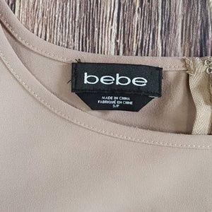 bebe Tops - Bebe, Eyelash Lace Hem Top, Pink, S